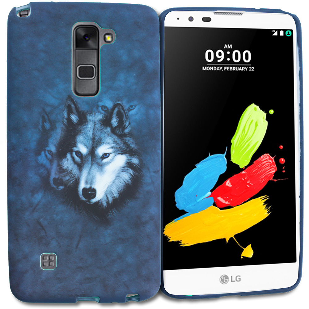 LG G Stylo 2 LS775 Wolf TPU Design Soft Rubber Case Cover