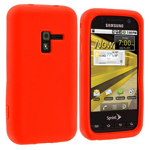 Samsung Conquer 4G D600 Orange Silicone Soft Skin Case Cover