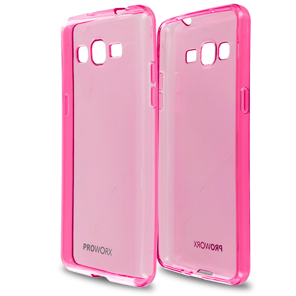Samsung Galaxy Grand Prime LTE G530 Hot Pink ProWorx Ultra Slim Thin Scratch Resistant TPU Silicone Case Cover