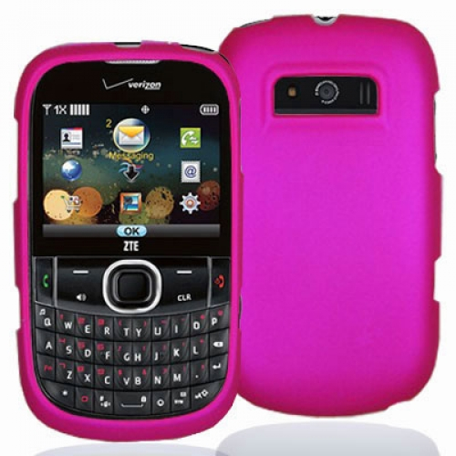 ZTE Adamant F450 Hot Pink Hard Rubberized Case Cover