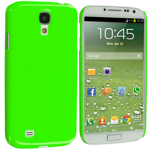 Samsung Galaxy S4 Neon Green Solid Crystal Hard Back Cover Case
