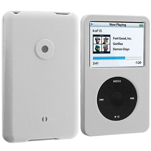 Apple iPod Classic White Hard Rubberized Case Cover