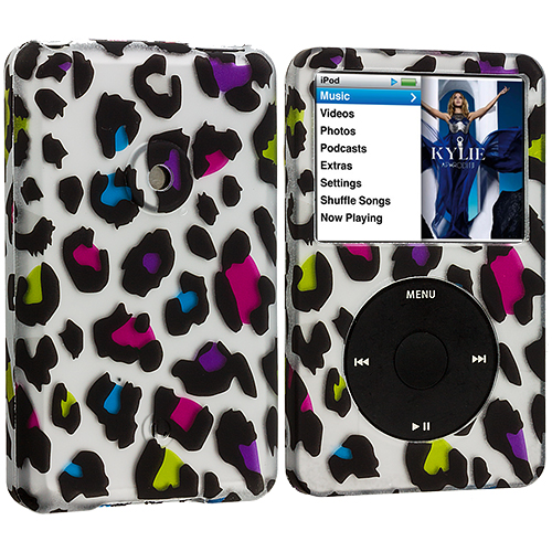 Apple iPod Classic Colorful Leopard Hard Rubberized Design Case Cover