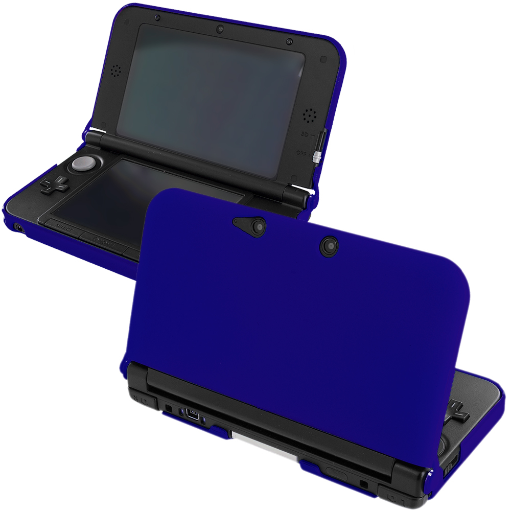 Nintendo 3DS XL Blue Hard Rubberized Case Cover
