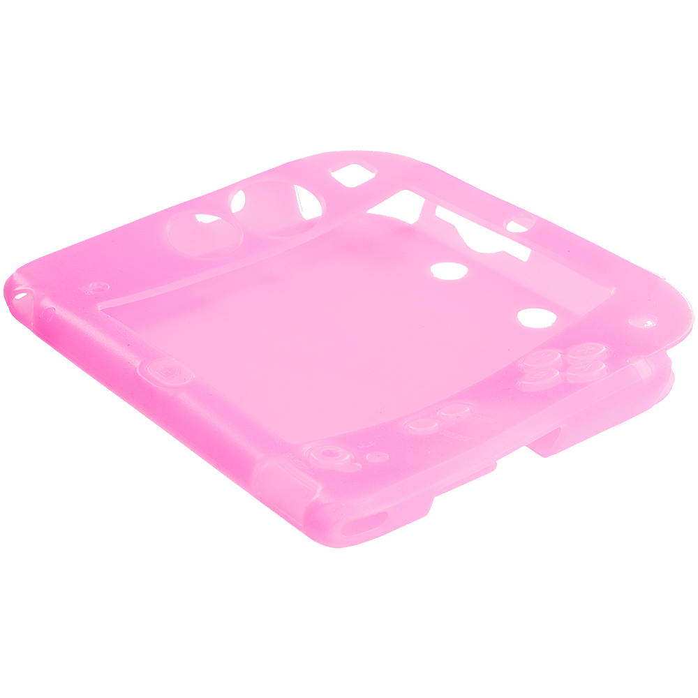 Nintendo 2DS Light Pink Silicone Soft Skin Case Cover