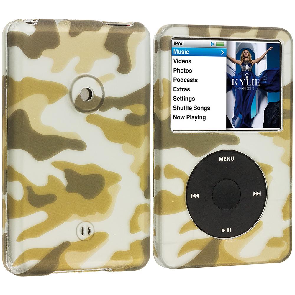 Apple iPod Classic Camo Hard Rubberized Design Case Cover