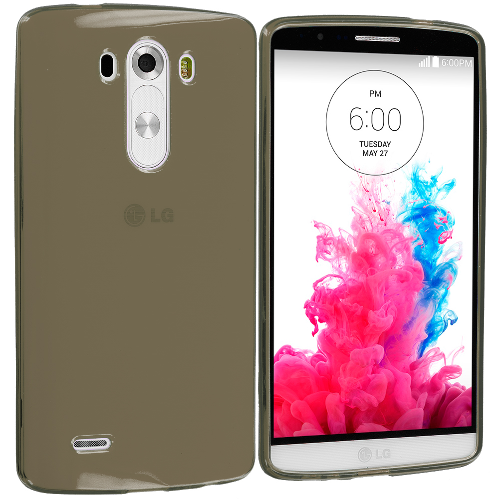 LG G3 Smoke TPU Rubber Skin Case Cover