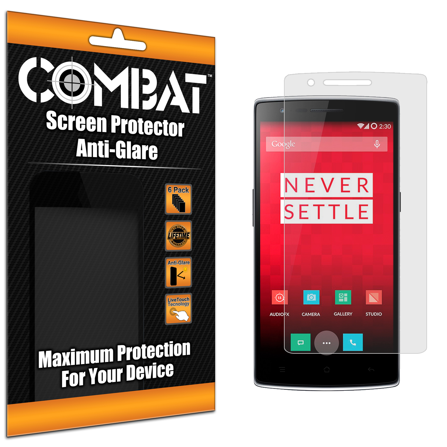 OnePlus One Combat 6 Pack Anti-Glare Matte Screen Protector