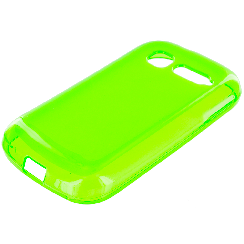 Alcatel One Touch Pop C1 Neon Green TPU Rubber Skin Case Cover