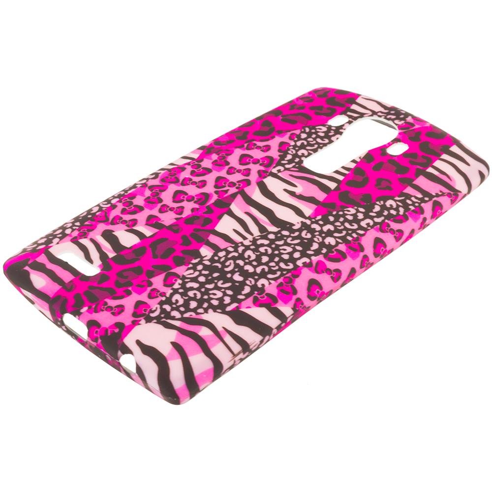 LG G4 Bowknot Zebra TPU Design Soft Rubber Case Cover