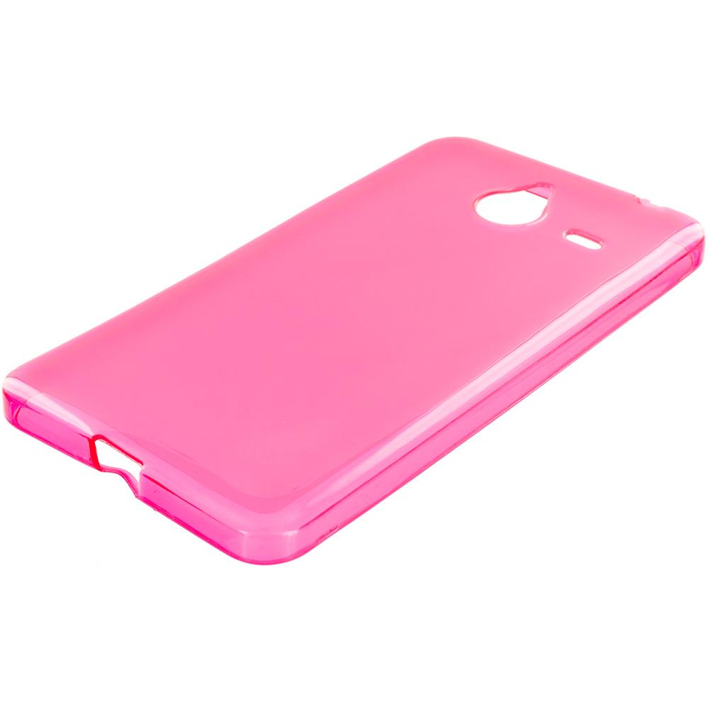 Microsoft Lumia 640 XL Hot Pink TPU Rubber Skin Case Cover