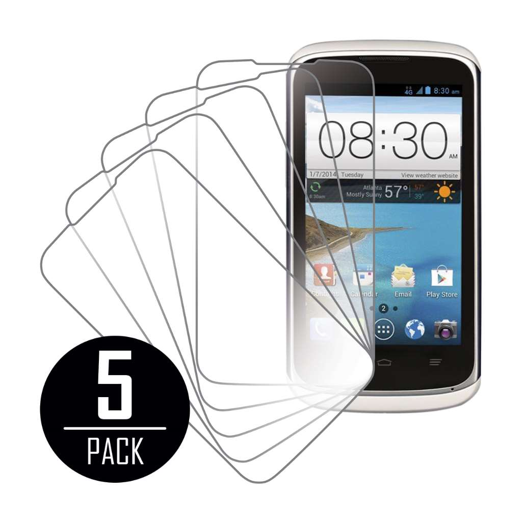 ZTE Radiant / Sonata 4G MPERO 5 Pack of Clear Screen Protectors