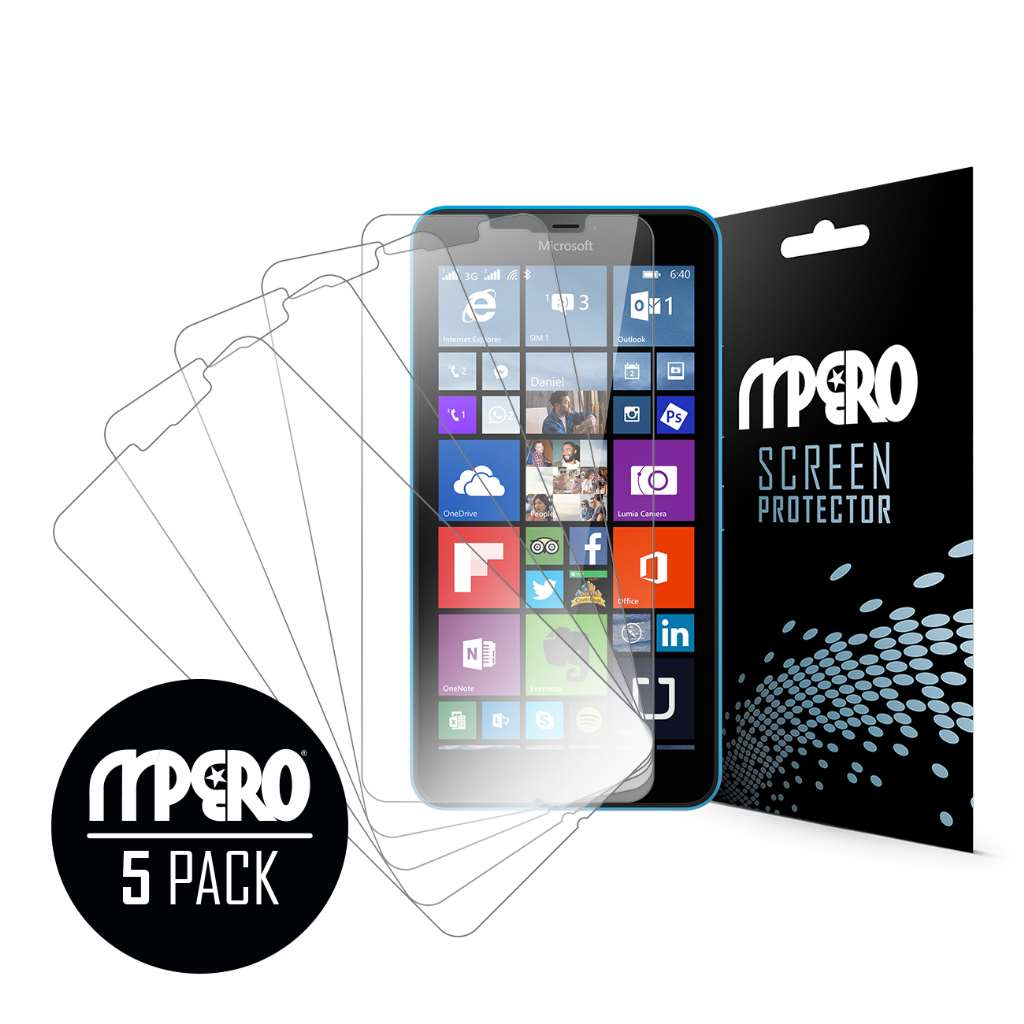 Microsoft Lumia 640 XL MPERO 5 Pack of Ultra Clear Screen Protectors