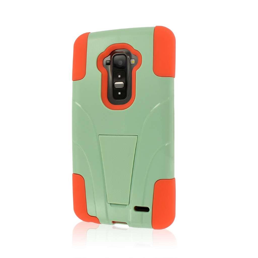 LG G Flex - Coral/ Mint MPERO IMPACT X - Kickstand Case Cover
