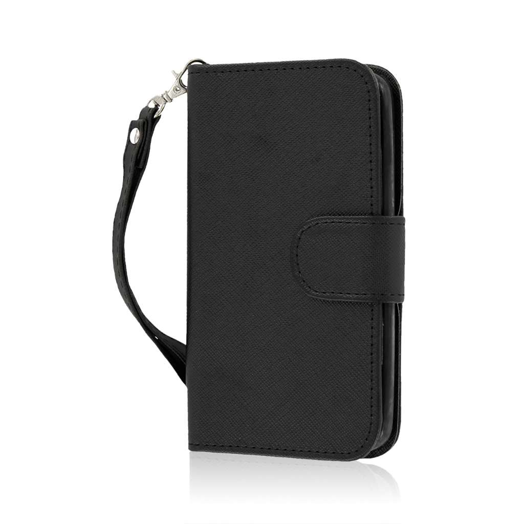 LG G2 Mini - Black MPERO FLEX FLIP Wallet Case Cover