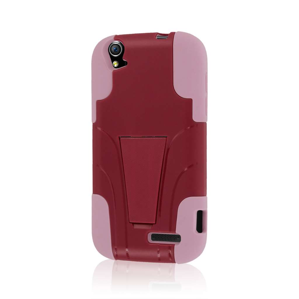 ZTE Grand X V970 - Hot Pink / Pink MPERO IMPACT X - Kickstand Case Cover