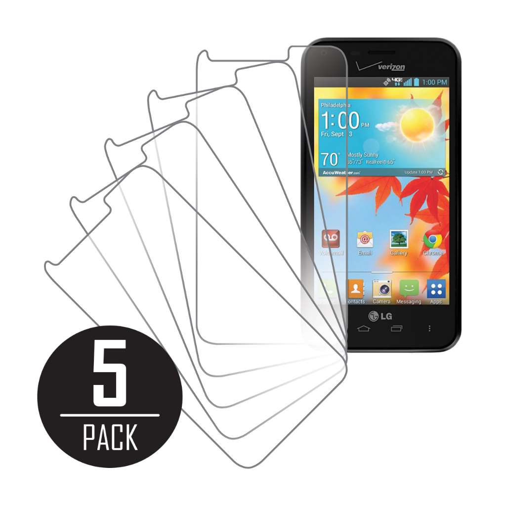 LG Enact MPERO 5 Pack of Clear Screen Protectors