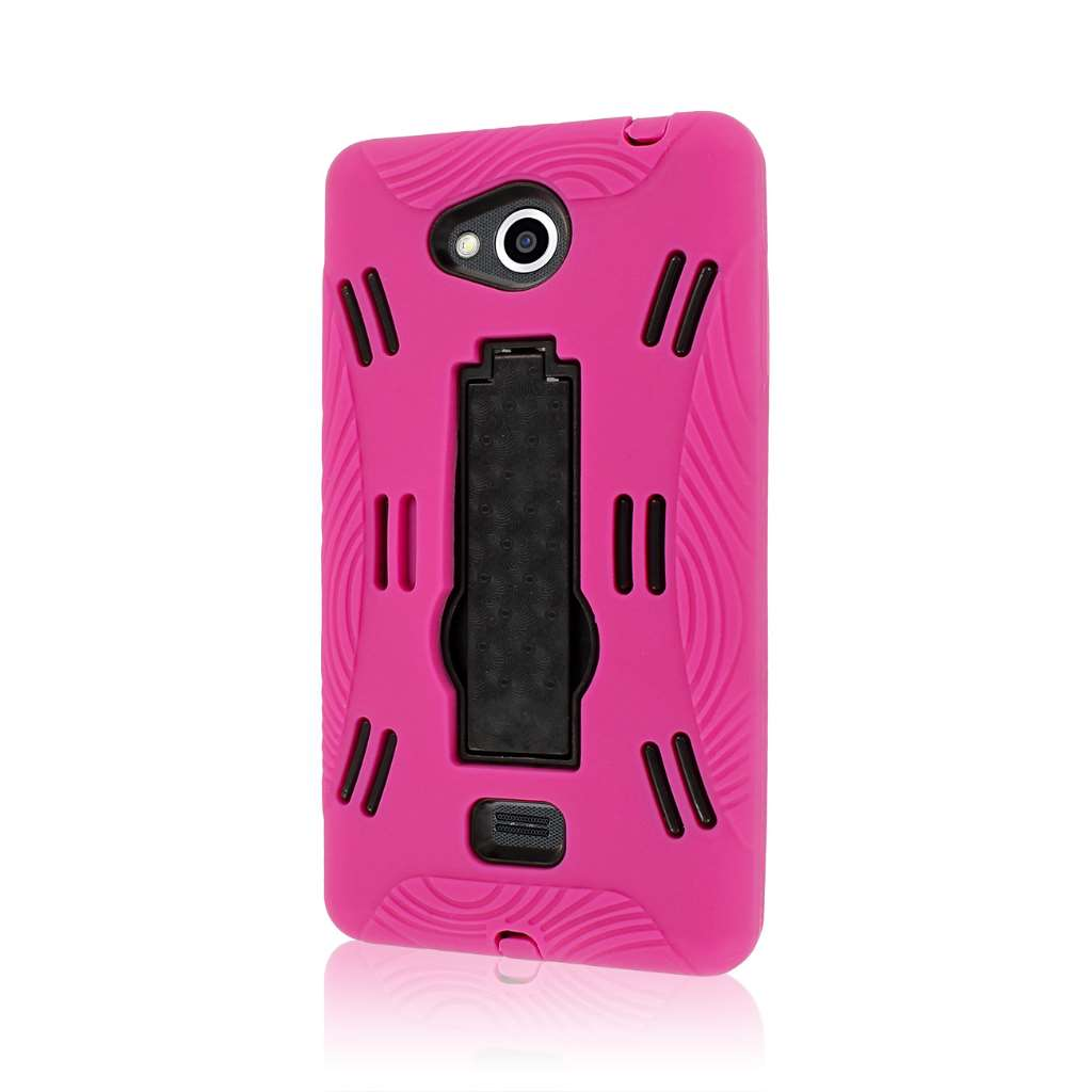 LG Spirit MS870 - Hot Pink MPERO IMPACT XL - Kickstand Case Cover
