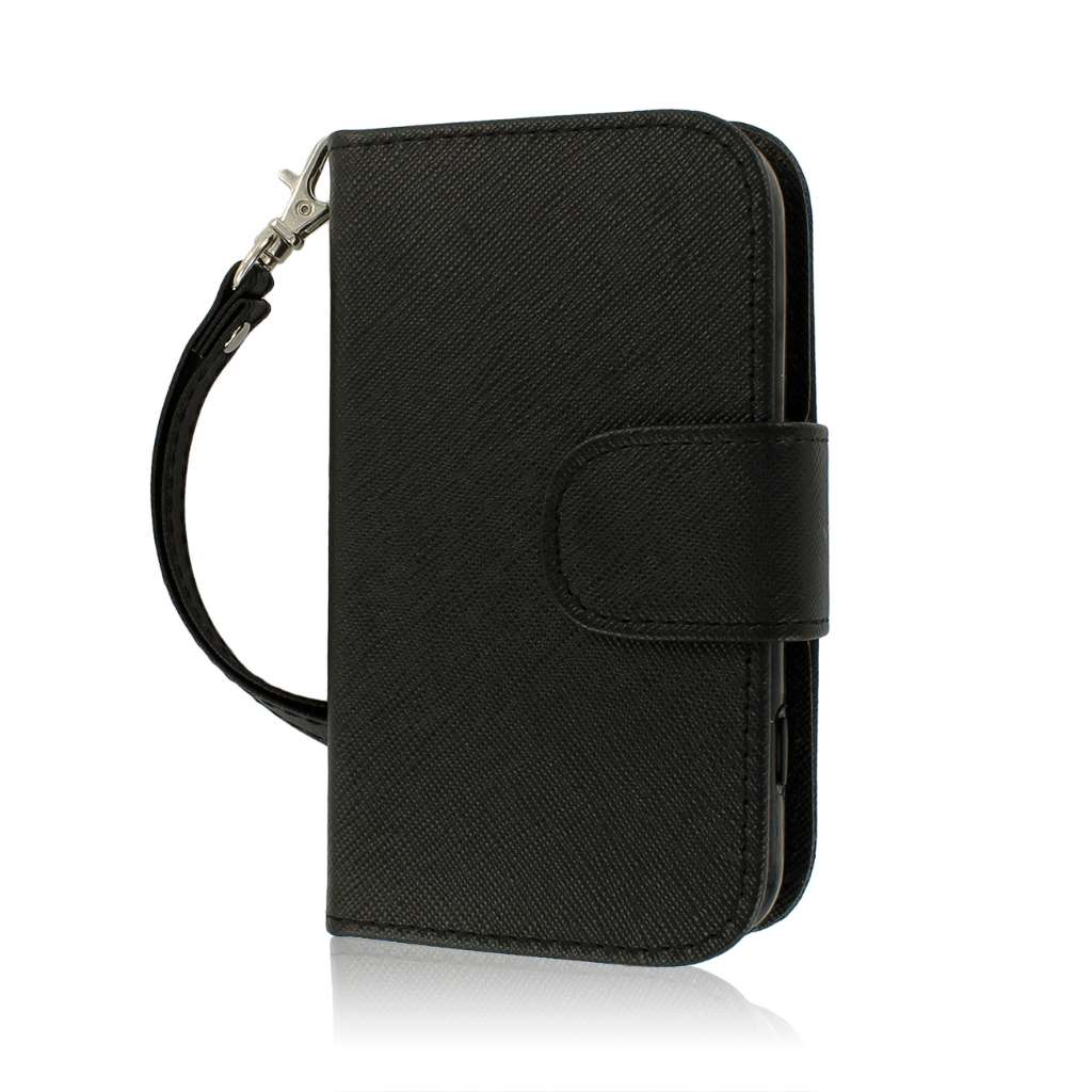 Samsung Galaxy Rush M830 - Black MPERO FLEX FLIP Wallet Case Cover