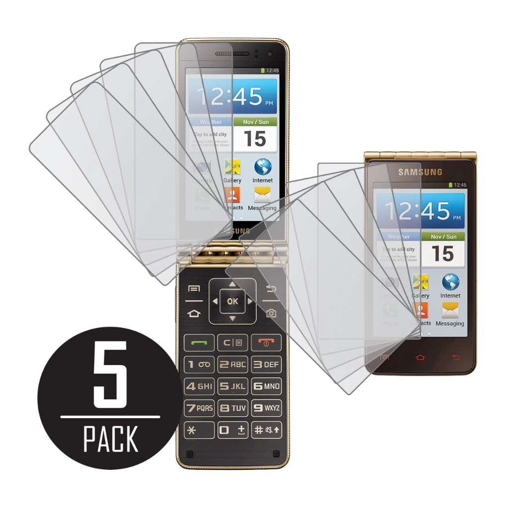 Samsung Galaxy Golden MPERO 5 Pack of Matte Screen Protectors