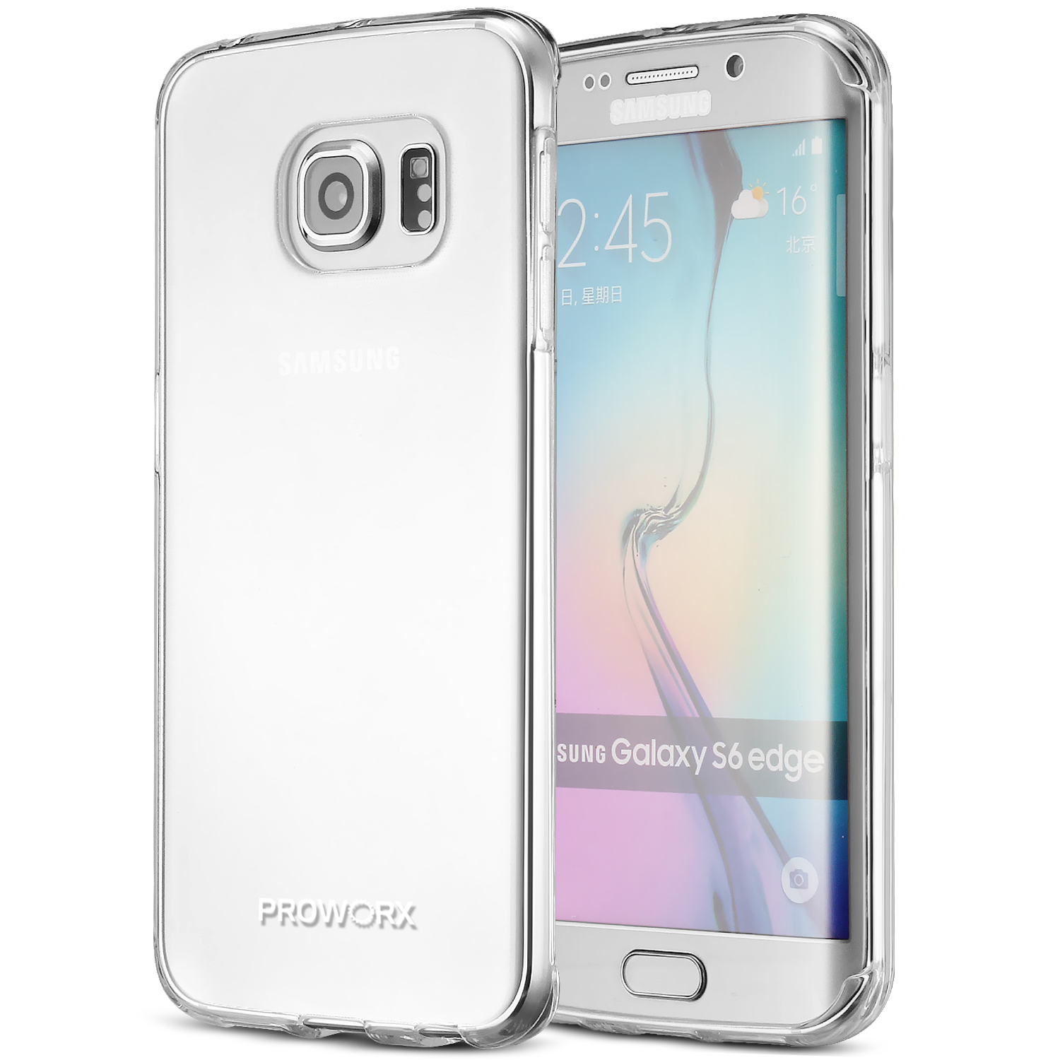 Samsung Galaxy S6 Edge Plus + Clear ProWorx Ultra Slim Thin Scratch Resistant TPU Silicone Case Cover