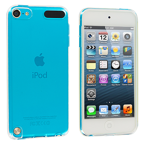 Apple iPod Touch 5th 6th Generation Clear Plain TPU Rubber Skin Case Cover