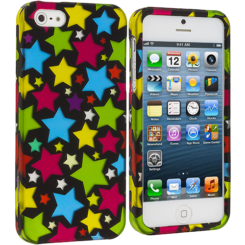 Apple iPhone 5/5S/SE Star Clan Hard Rubberized Design Case Cover