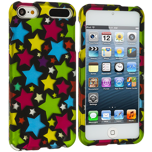 Apple iPod Touch 5th 6th Generation Star Clan Hard Rubberized Design Case Cover