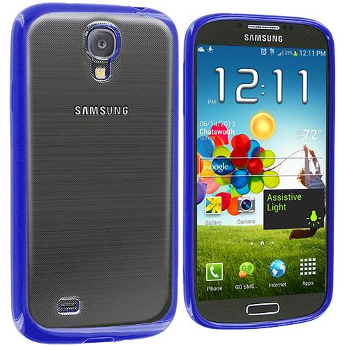 Samsung Galaxy S4 Blue TPU Plastic Hybrid Case Cover