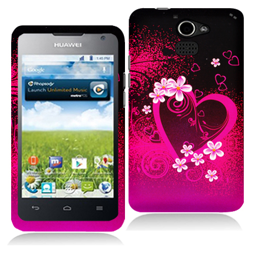 Huawei Premia 4G Purple Love Hard Rubberized Design Case Cover