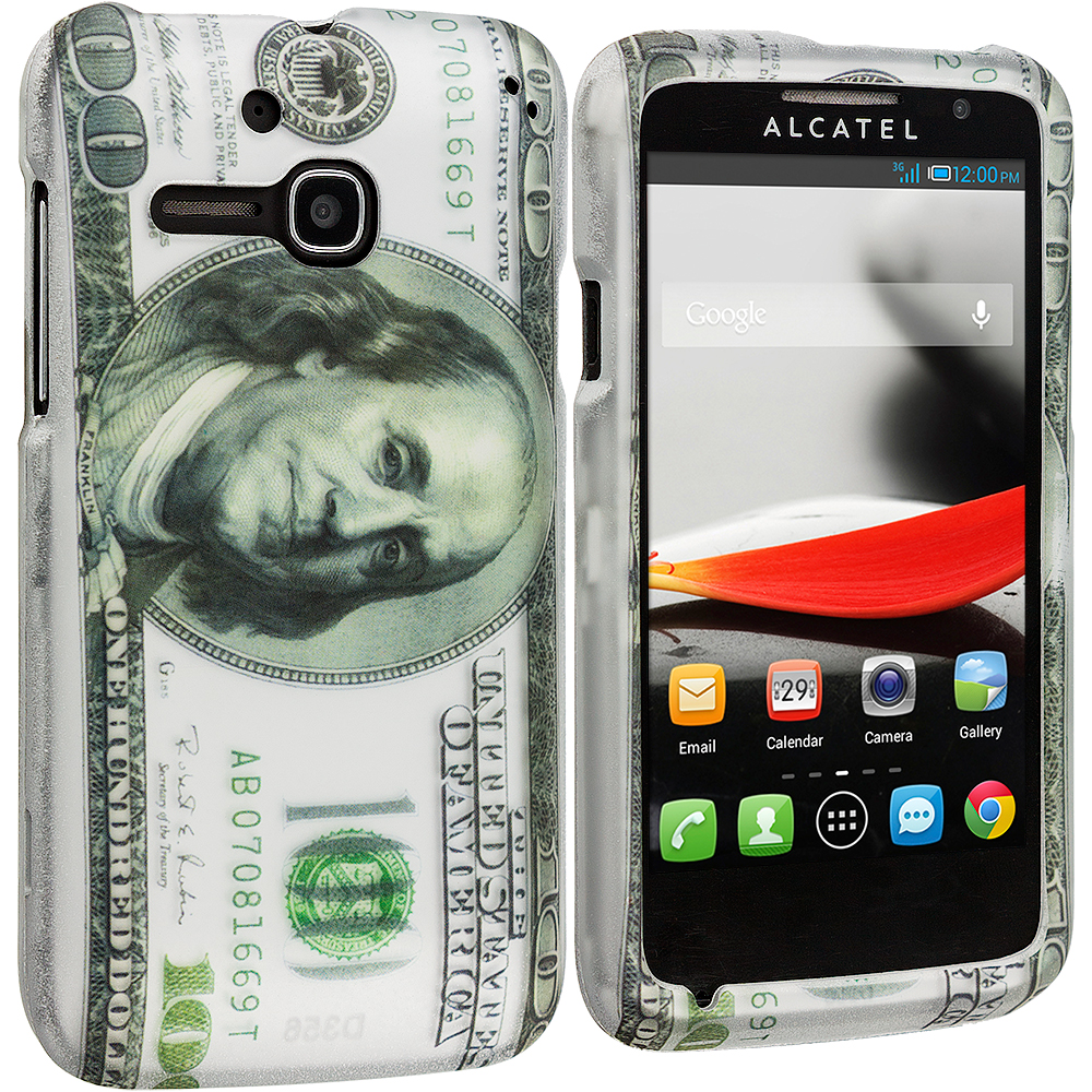 Alcatel One Touch Evolve 5020T Hundred Dollars 2D Hard Rubberized Design Case Cover