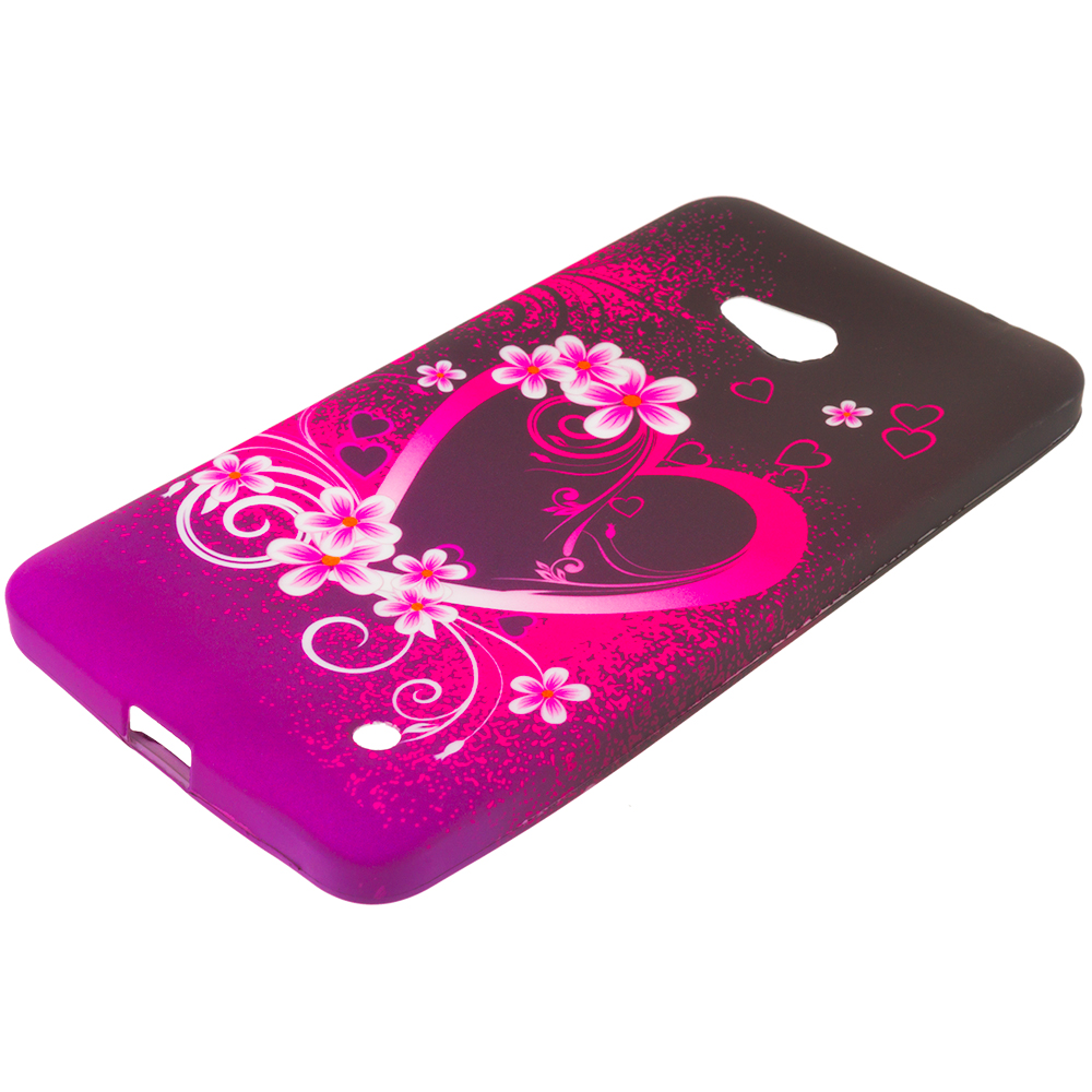 Microsoft Lumia 640 Purple Love TPU Design Soft Rubber Case Cover