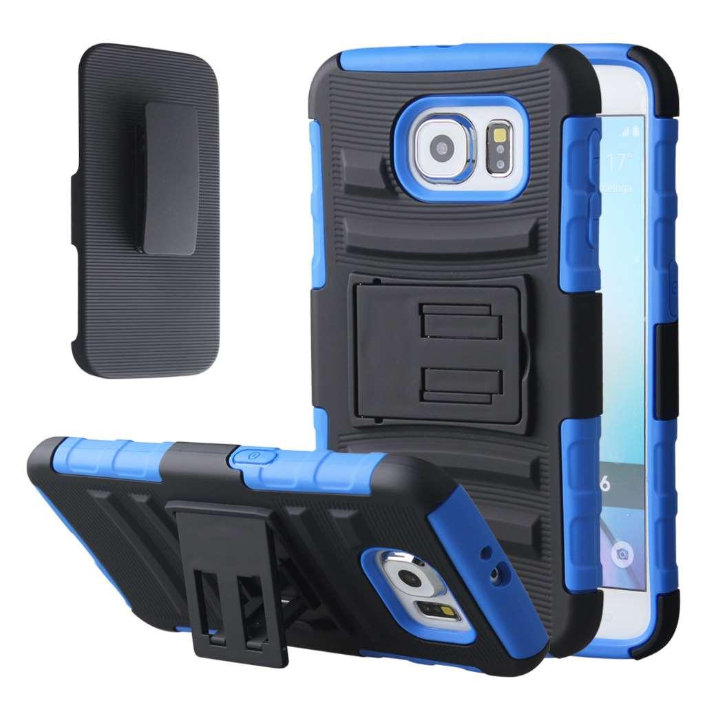 Samsung Galaxy S6 - Blue MPERO IMPACT XT - Kickstand Case Cover