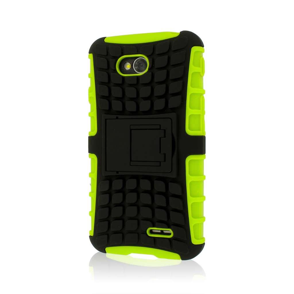 LG Optimus L70 - Neon Green MPERO IMPACT SR - Kickstand Case Cover