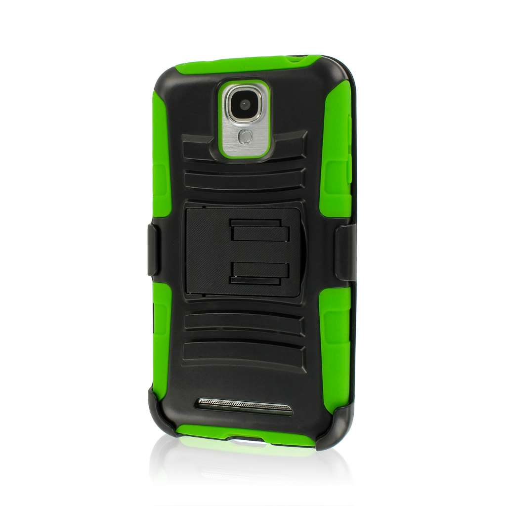 Samsung ATIV SE - Neon Green MPERO IMPACT XT - Stand Case Belt Clip Holster
