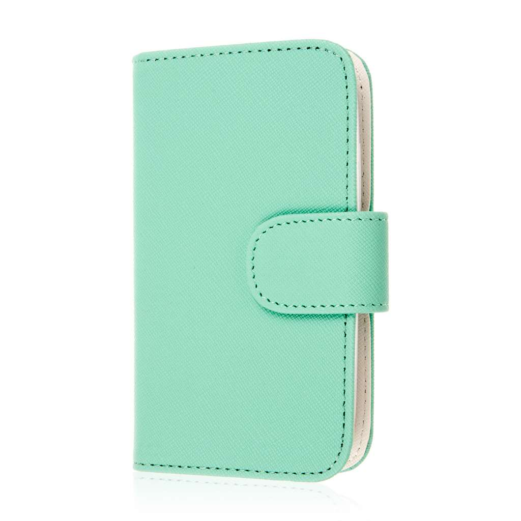 Alcatel OneTouch Evolve 2 - Mint MPERO FLEX FLIP Wallet Case Cover