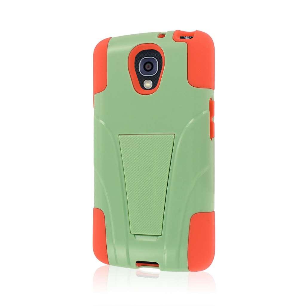 LG Volt - Coral / Mint MPERO IMPACT X - Kickstand Case Cover