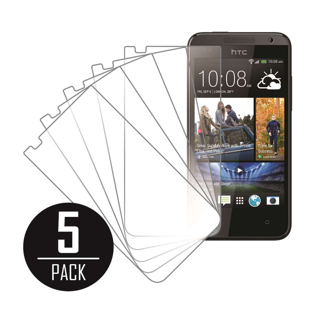 HTC Desire 300 MPERO 5 Pack of Clear Screen Protectors