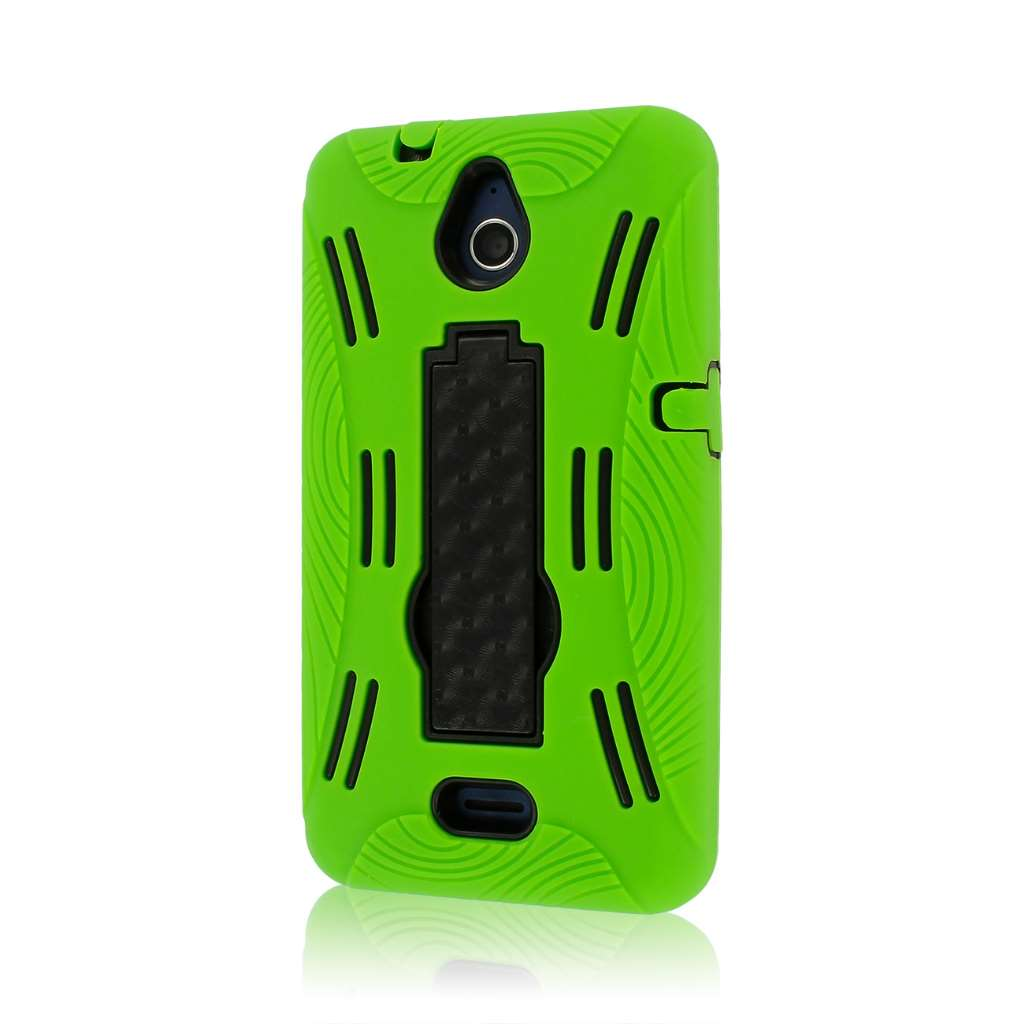 Huawei Valiant - Neon Green MPERO IMPACT XL - Kickstand Case Cover