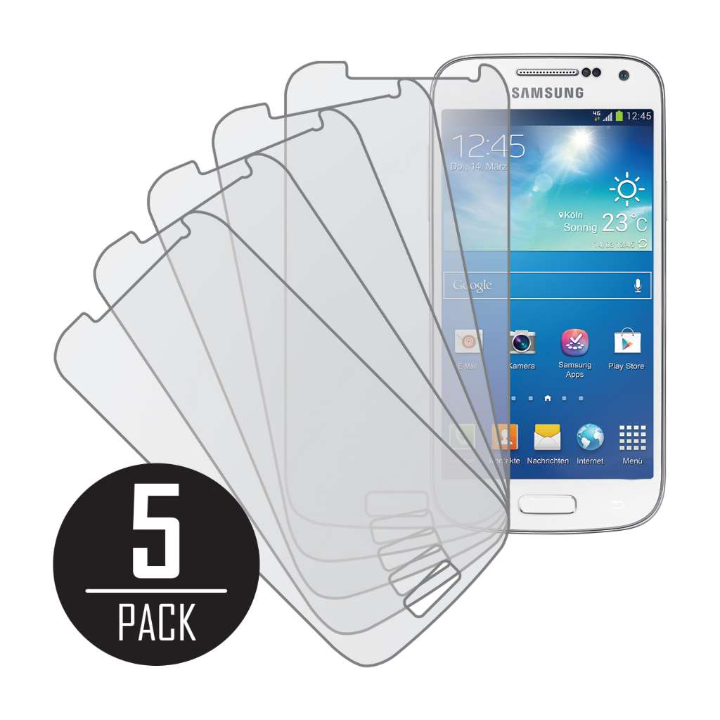 Samsung Galaxy S4 Mini MPERO 5 Pack of Matte Anti-Glare Screen Protectors