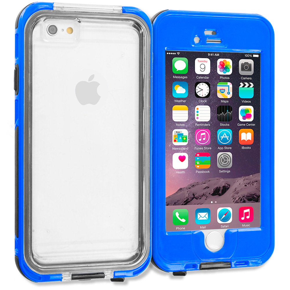 Apple iPhone 6 Plus 6S Plus (5.5) Blue Waterproof Shockproof Dirtproof Hard Full Protection Case Cover