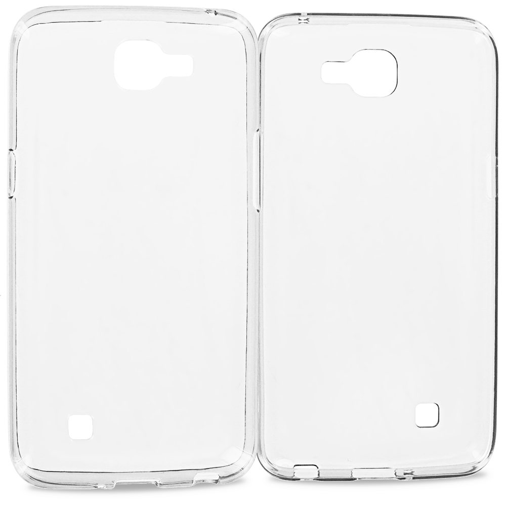 LG Spree Optimus Zone 3 VS425 K4 Clear TPU Rubber Skin Case Cover