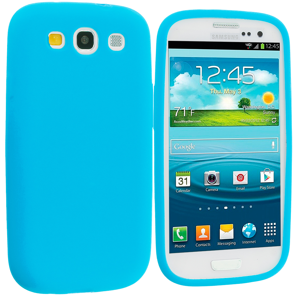 Samsung Galaxy S3 Baby Blue Silicone Soft Skin Case Cover