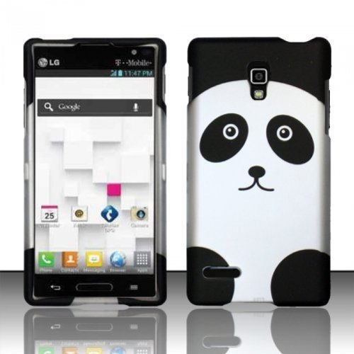 LG Optimus L9 P769 T-Mobile Panda Hard Rubberized Design Case Cover