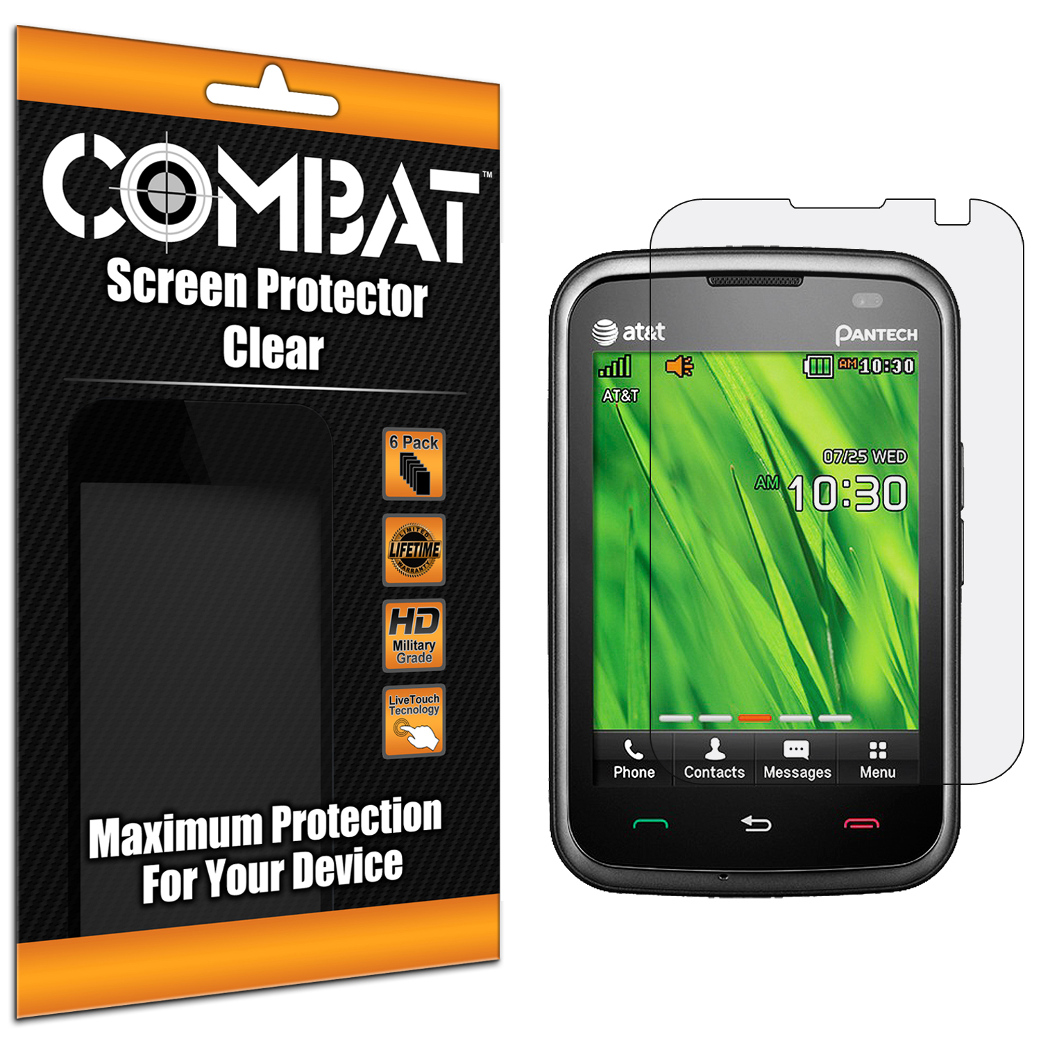 Pantech Renue 6030 Combat 6 Pack HD Clear Screen Protector