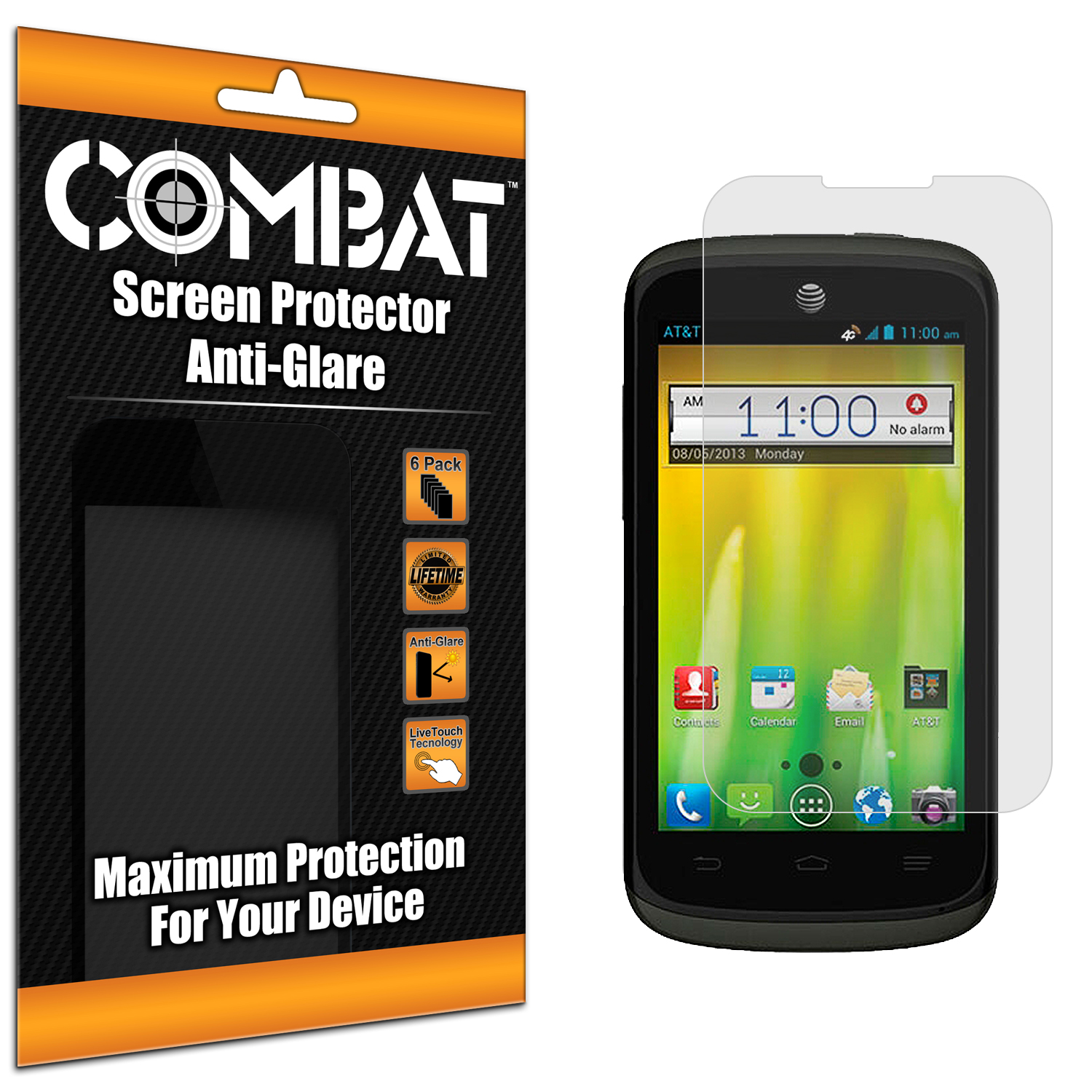 ZTE Radiant Combat 6 Pack Anti-Glare Matte Screen Protector