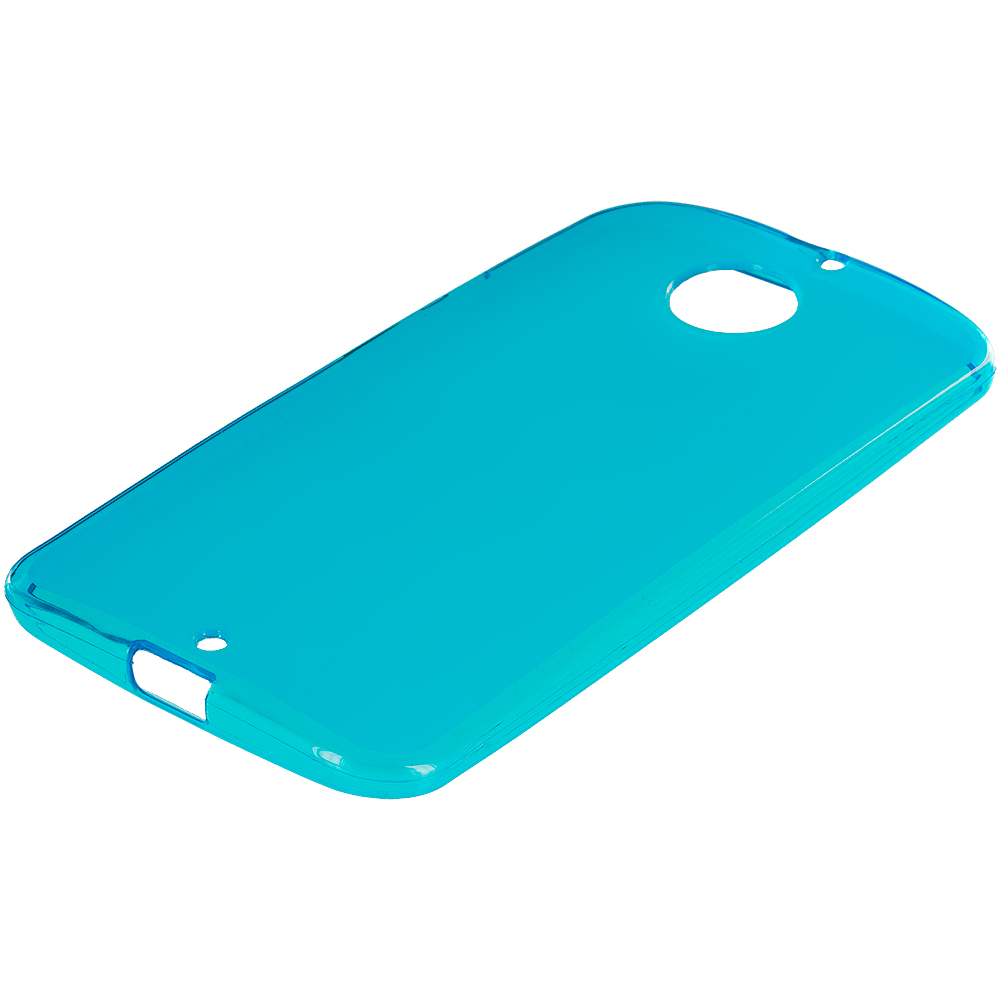Motorola Moto X 2nd Gen Baby Blue TPU Rubber Skin Case Cover