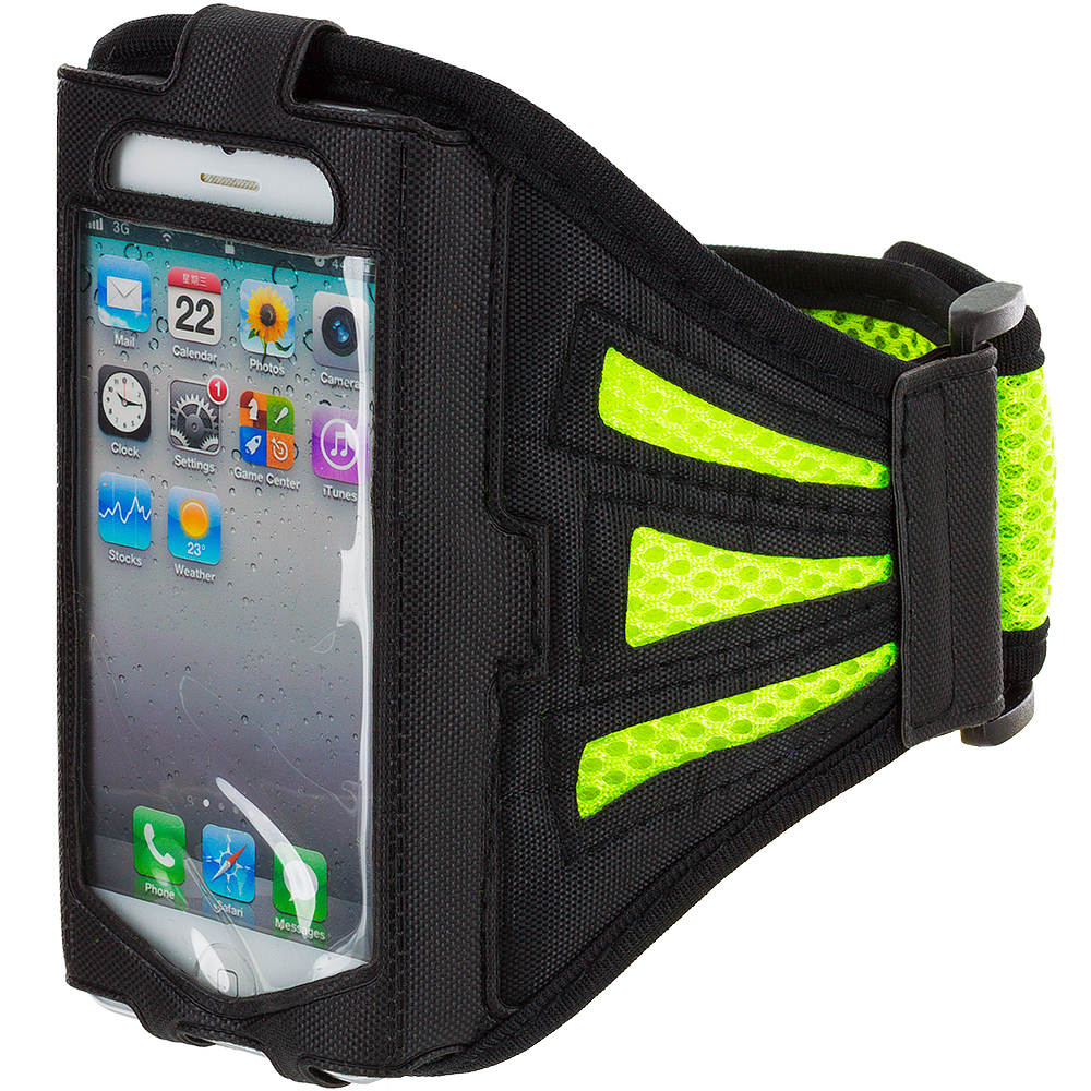 Apple iPhone 4 / 4S Green Mesh Running Sports Gym Armband