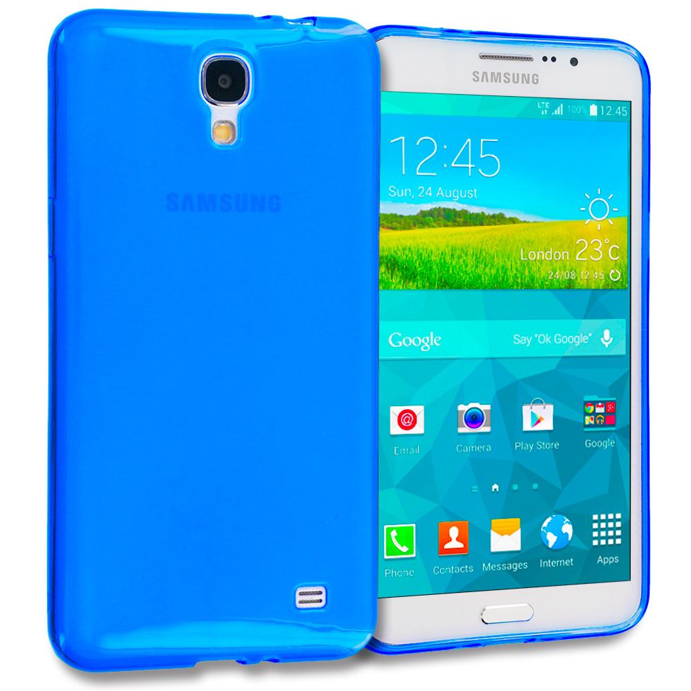 Samsung Galaxy Mega 2 Blue TPU Rubber Skin Case Cover