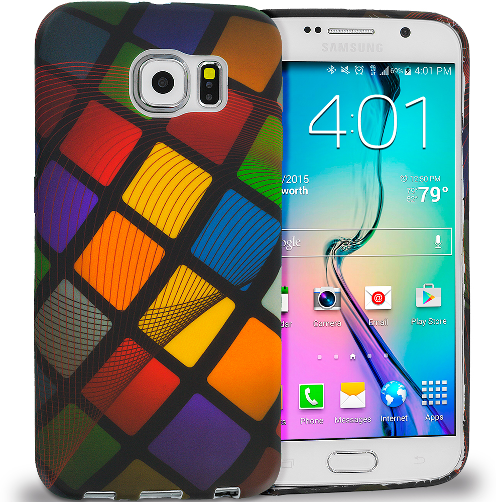 Samsung Galaxy S6 Color Ball TPU Design Soft Rubber Case Cover